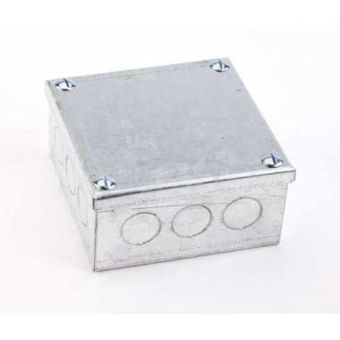 "Adaptable Box 4"" x 4"" x 3"" With Knock-Outs"