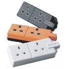 Masterplug Trailing Socket 13 Amp Twin Black