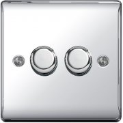 Nexus Dimmer 400W 2G 2W Polished Chrome