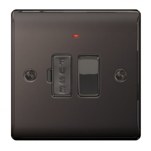 BG Electrical Nexus Spur Switch Neon Black Nickel