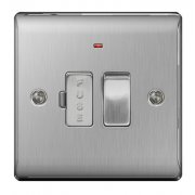 Nexus Spur Switch With Power Indicator Brushed Steel
