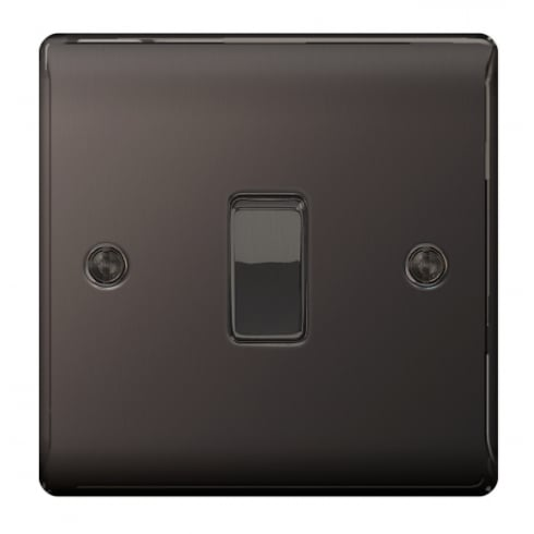 BG Electrical Nexus Switch 10A 1G 2W Black Nickel