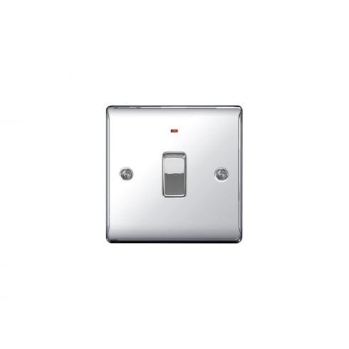 BG Electrical Nexus Switch 20A DP Neon Polished Chrome