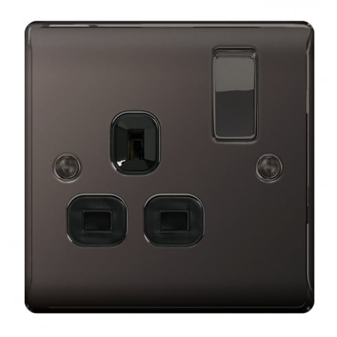 BG Electrical Nexus Switch Socket 13A 1G Black Nickel