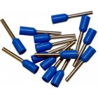 Bootlace Ferrules Blue 0.75mm