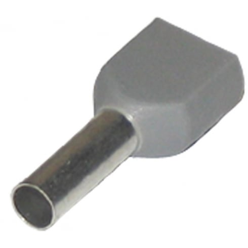 SWA Specialised Wiring Accessories Bootlace Ferrules Grey 2.5mm