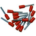Bootlace Ferrules Red 1.0mm