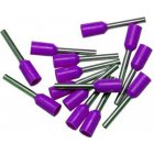 Bootlace Ferrules Violet 0.25mm