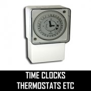 Time Clocks Thermostats etc.