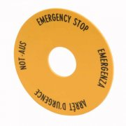 Emergency Stop Label Plate
