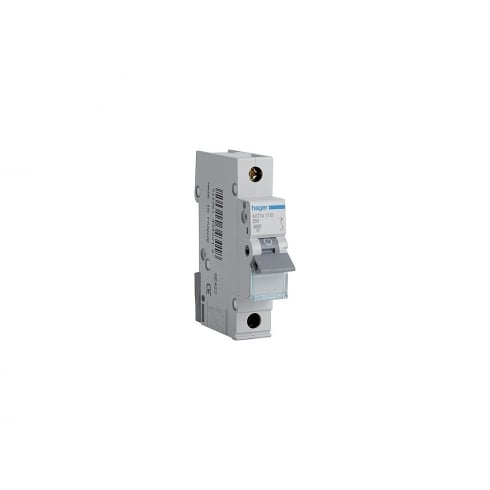 Hager 16A MCB 6kA Single Pole Type B