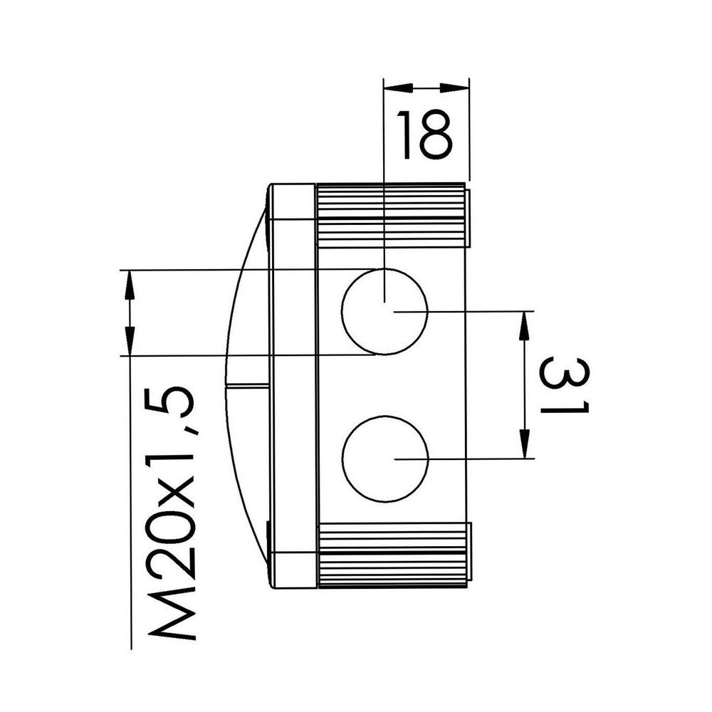 10060580black wiska combi 308  5 junction box from