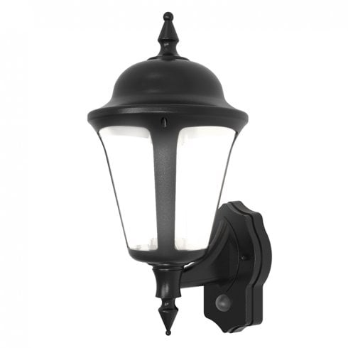 Ansell Latina LED Wall Lantern with PIR 8W Black