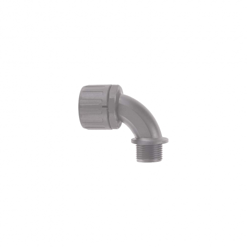 Flexicon M25 Adaptor 90° Elbow Grey