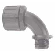 M25 Adaptor 90° Elbow Grey
