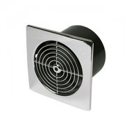 Fan 100mm Low Profile Square Chrome