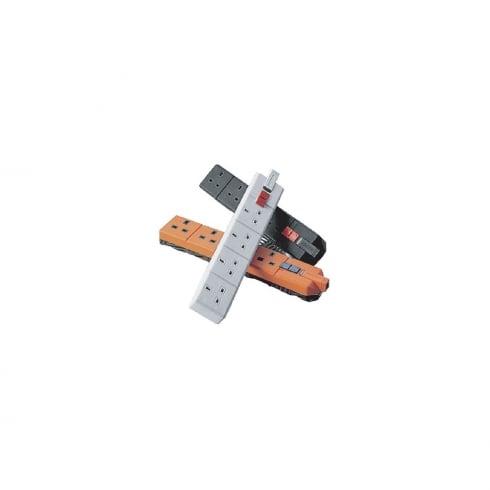 BG Electrical Masterplug Extension Socket 4W Fuse Neon Black