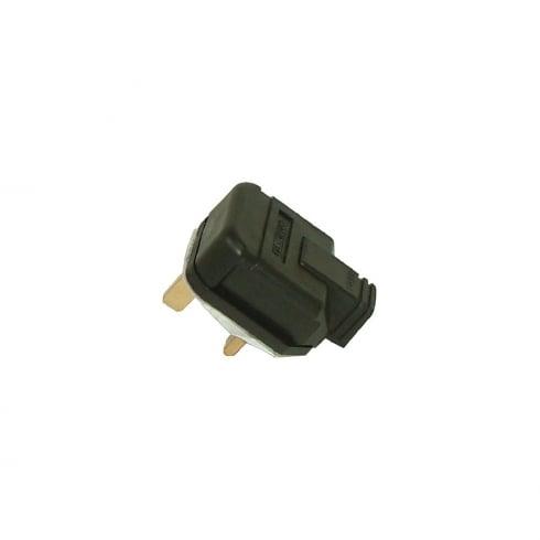 BG Electrical Masterplug Plug 13 Amp Rubber Black