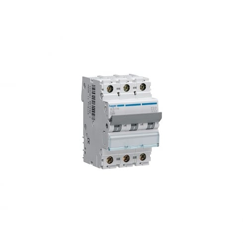 Hager 16A MCB 10kA Triple Pole Type C