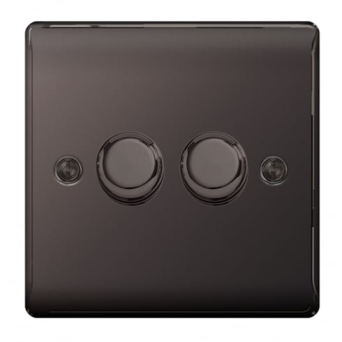 BG Electrical Nexus Dimmer 400W 2G 2W Black Nickel