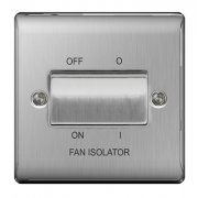 Nexus Fan Isolator 3P Brushed Steel Grey