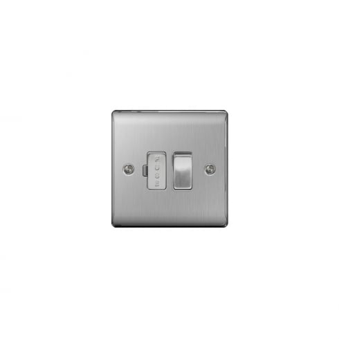 BG Electrical Nexus Spur Switch Brushed Steel Grey