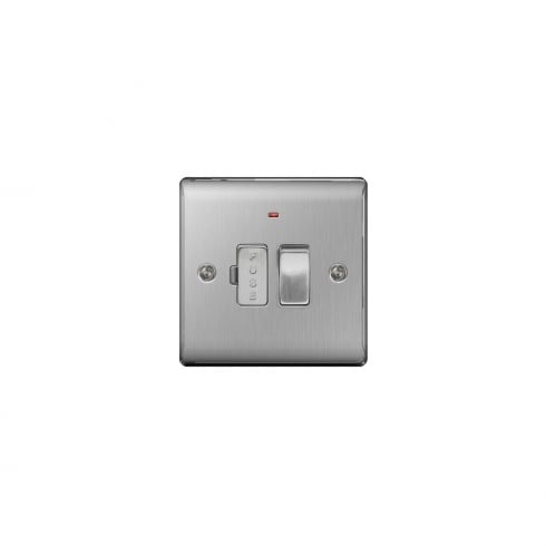 BG Electrical Nexus Spur Switch Neon Brushed Steel Grey