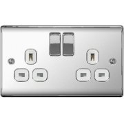 Nexus Switch Socket 13A 2G Polished Chrome