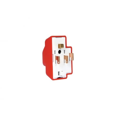 Klik Plug 4 Pin with Cord Grip and Cover Emergency Red