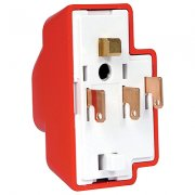 Plug 4 Pin with Cord Grip and Cover Emergency Red
