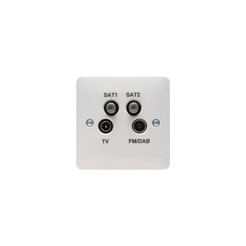 Hager Quad Coaxial Outlet + BT 2G