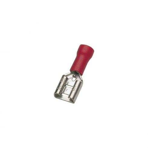 SWA Specialised Wiring Accessories Pre-Insulated Terminal - Red Female Push-On 6.3mm