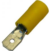 Pre-Insulated Terminal - Yellow Male Push-On 6.3mm