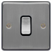 Switch 10A 1G Int Brushed Steel White