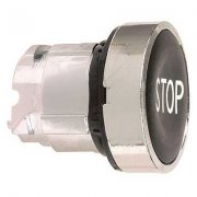 "Push Button Head Black ""STOP"""