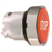 "Push Button Head Red Marked ""STOP"""