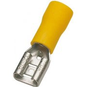 Pre-Insulated Terminal - Yellow Female Push-On 6.3mm